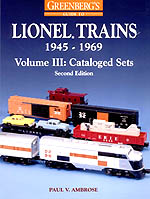 Greenberg's Guide to Lionel Trains 1945-1969 Volume 3 Cataloged Sets