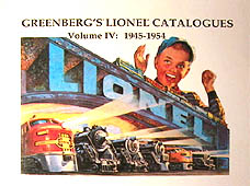 Greenberg's Lionel Catalogues: 1945-1954 Volume IV
